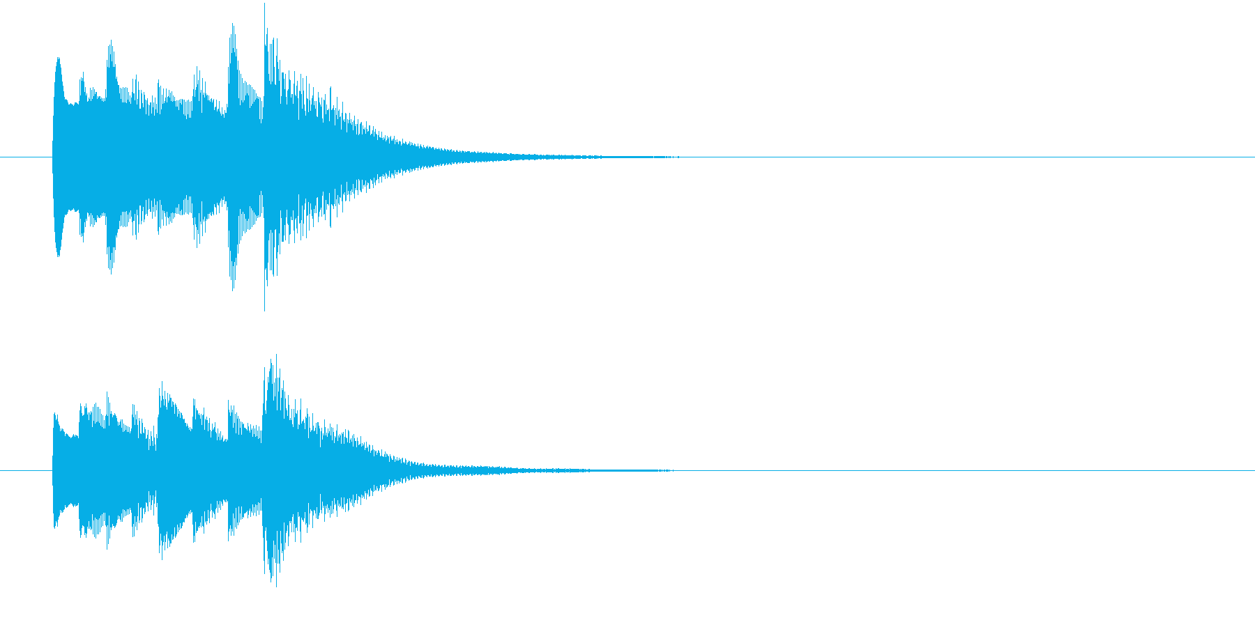 ポロンとしたセーブ音の再生済みの波形
