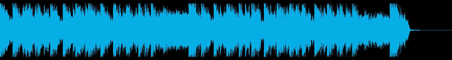 ちょっと明るいお化けちっくなEDMの再生済みの波形