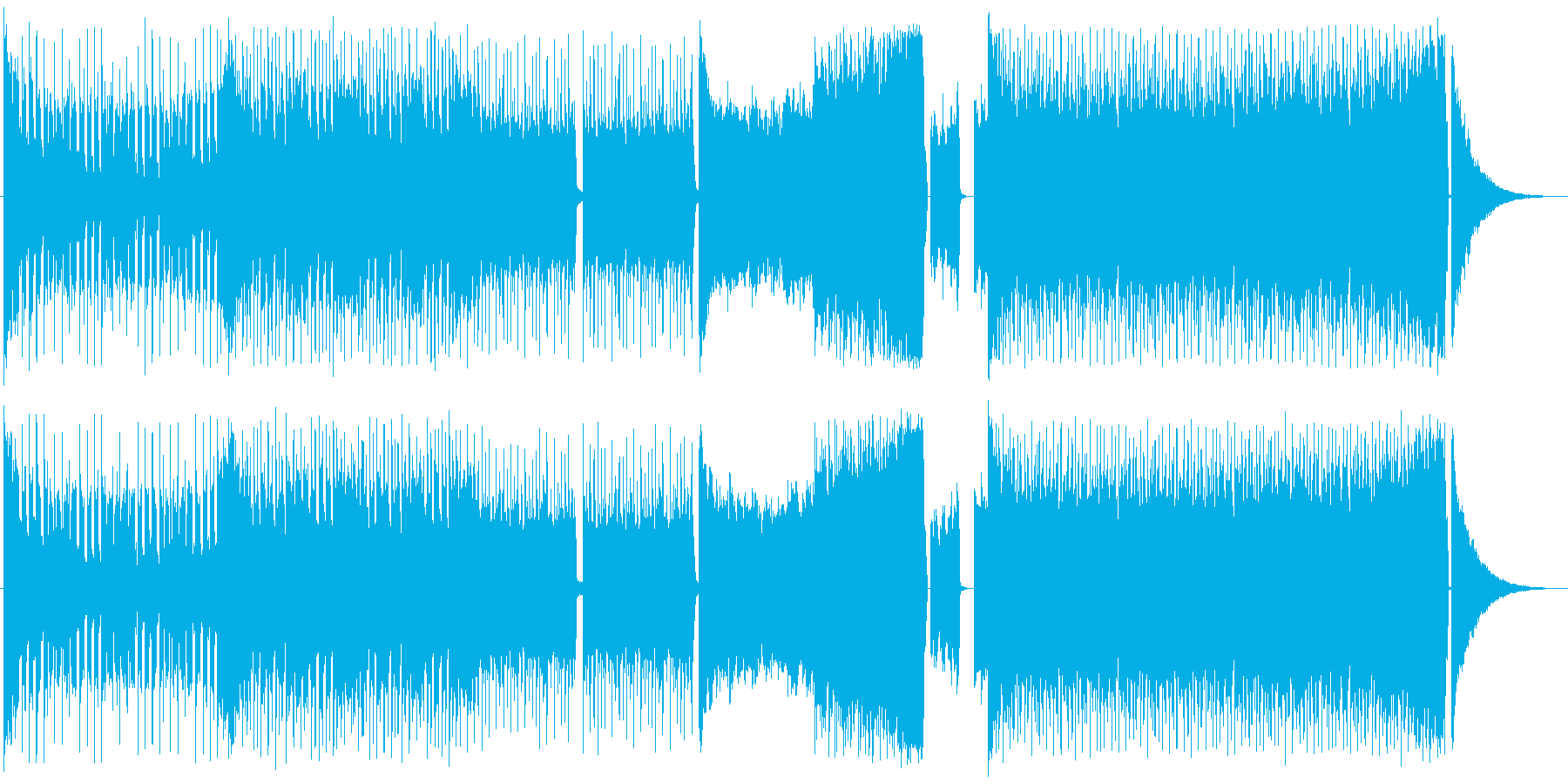 EDM オープニング スポーツ イベントの再生済みの波形