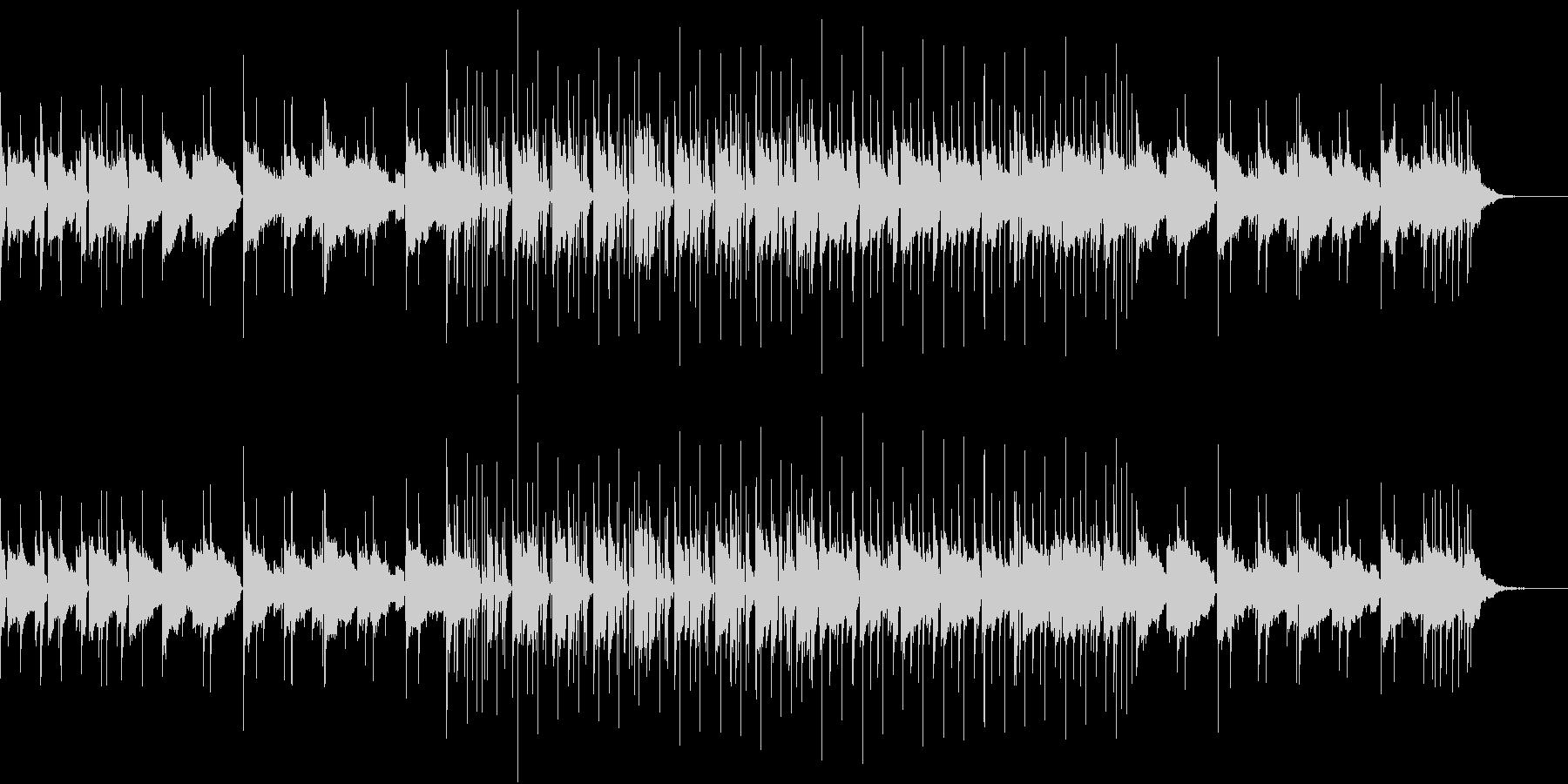 無機質な日常の未再生の波形