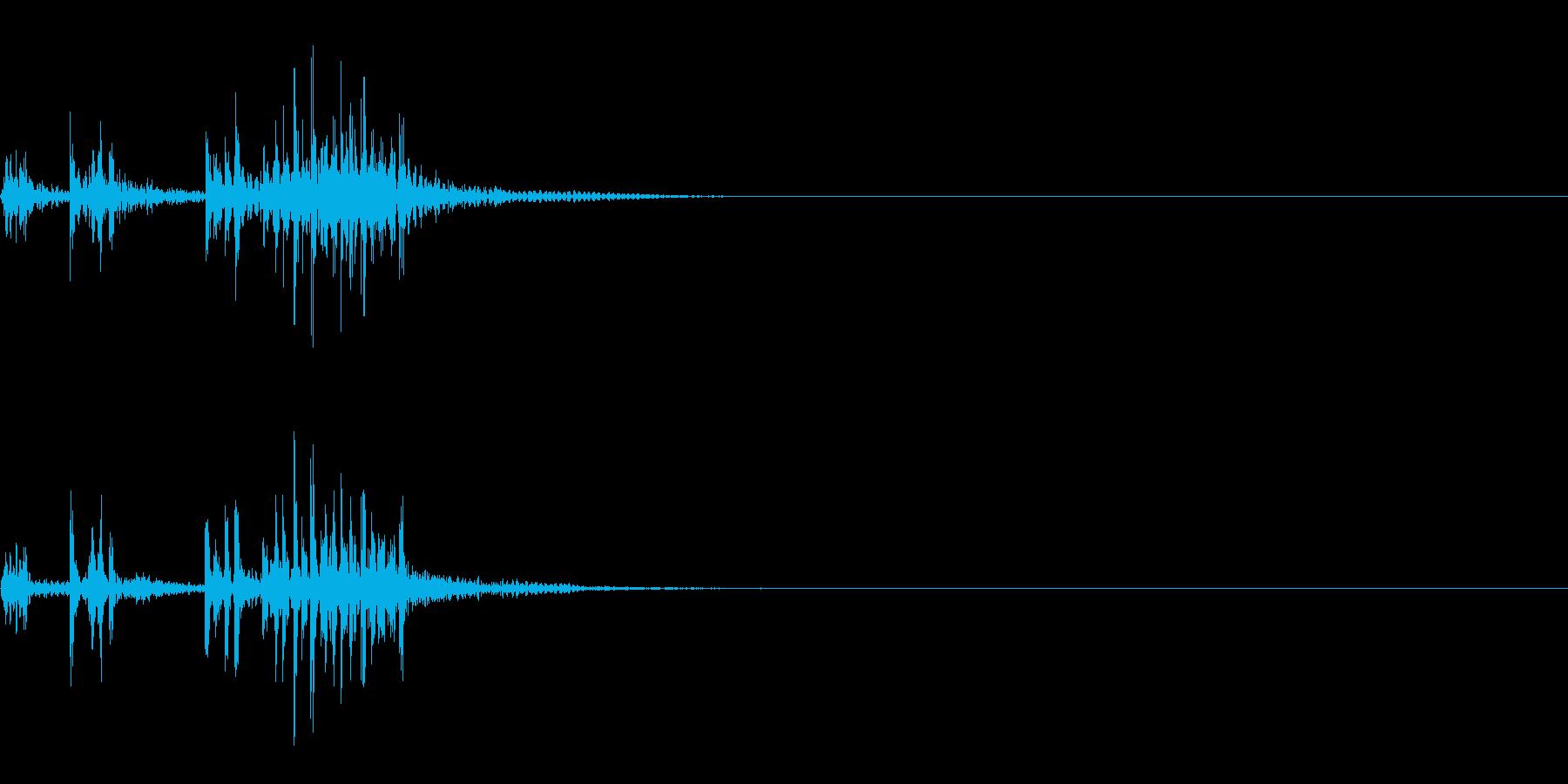 スパーク音-45の再生済みの波形