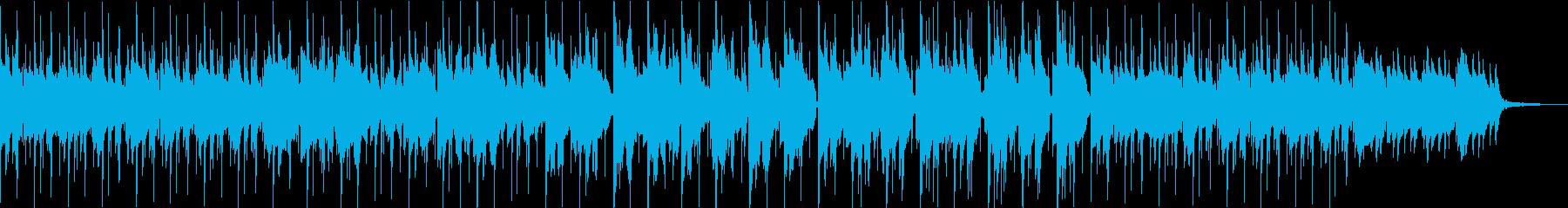 ヒップホップ風の気怠いスムースジャズの再生済みの波形