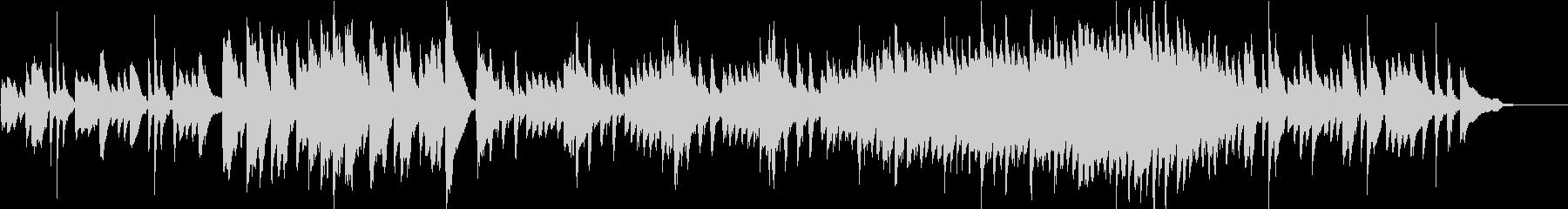 軽快なピアノとパーカッションの未再生の波形