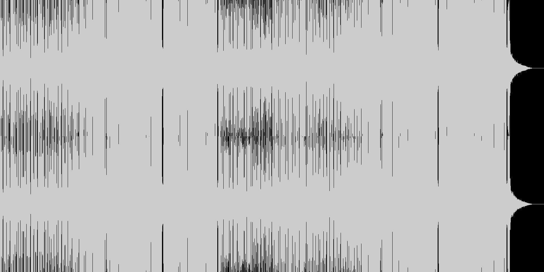 攻撃的なグリッチホップの未再生の波形