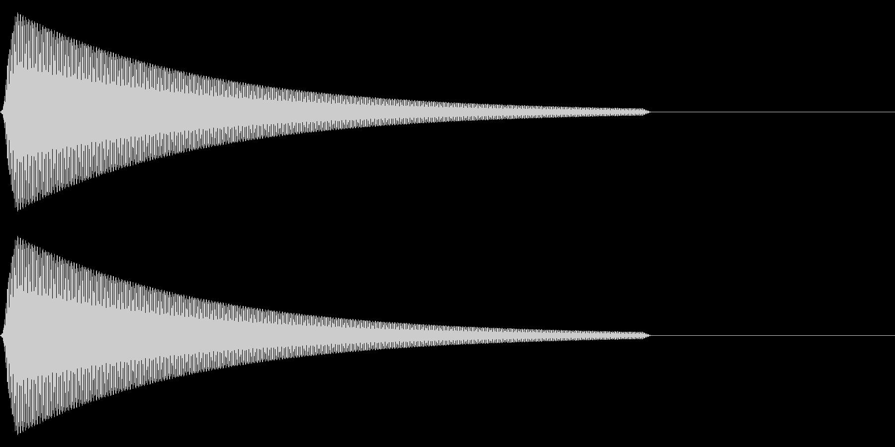 【SE】操作音08(ピ)の未再生の波形