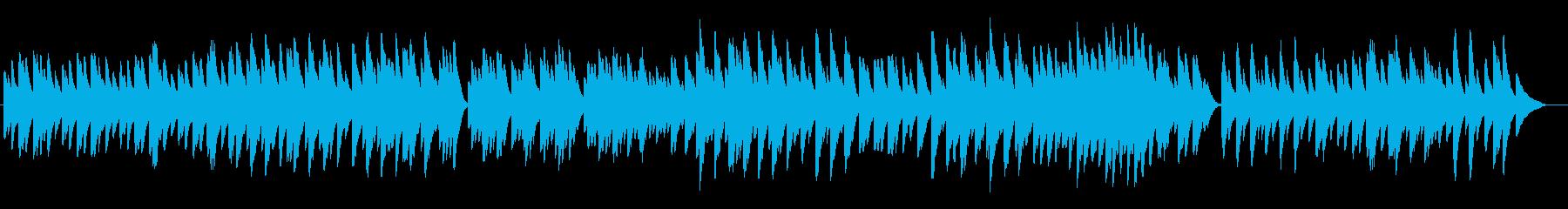 涼しげで爽やかなゆったりオルゴール曲の再生済みの波形