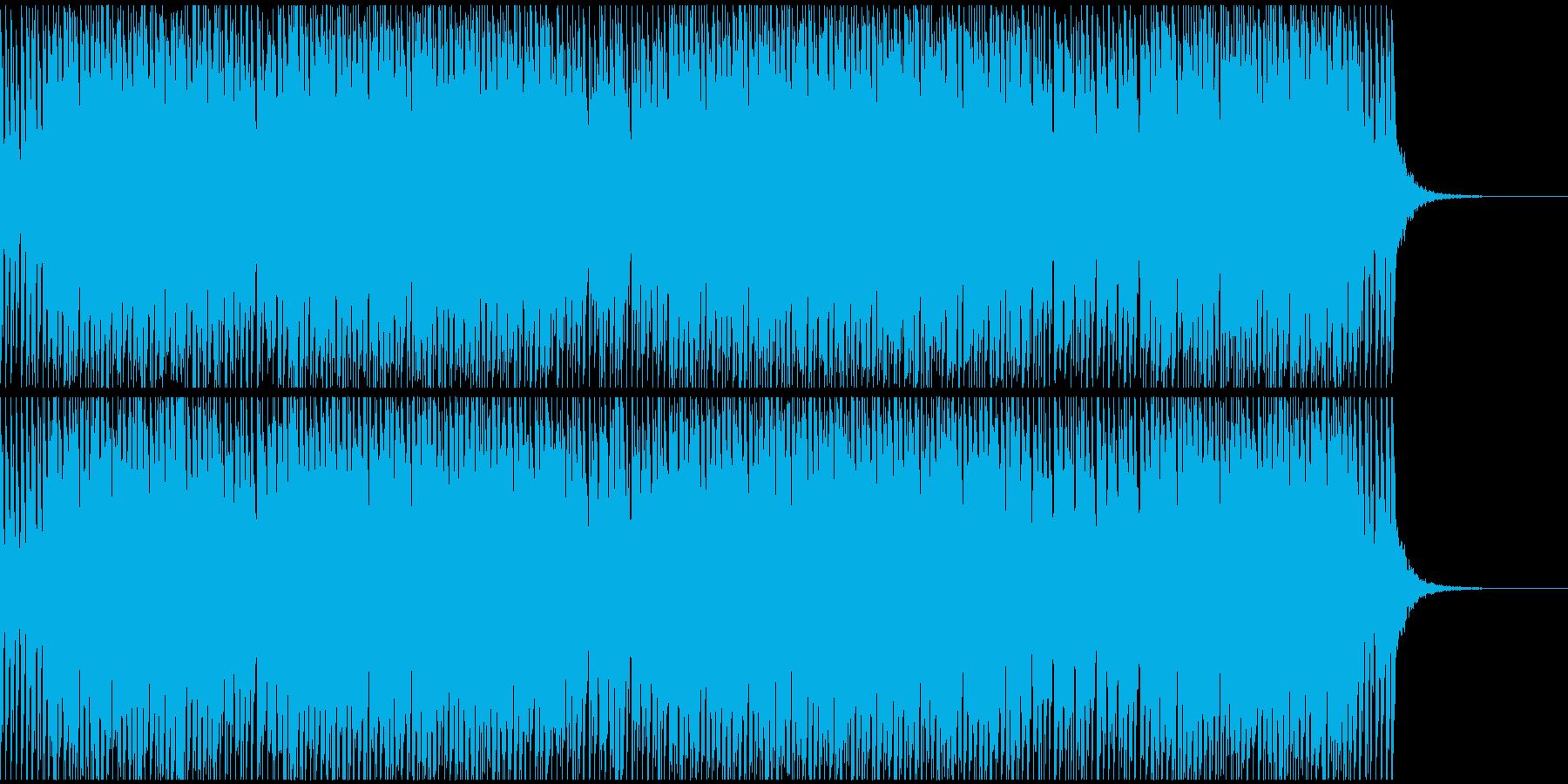 陽気,ポップな感じのテクノサウンドの再生済みの波形