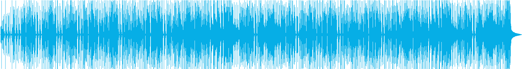 明るく軽いオープニング曲の再生済みの波形