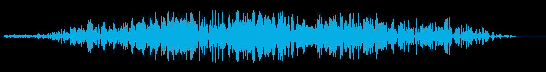 シュイッビシューン(風の音)の再生済みの波形