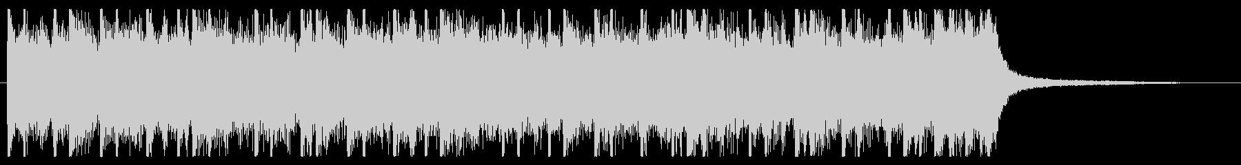 ロック調のパワフルなジングルの未再生の波形