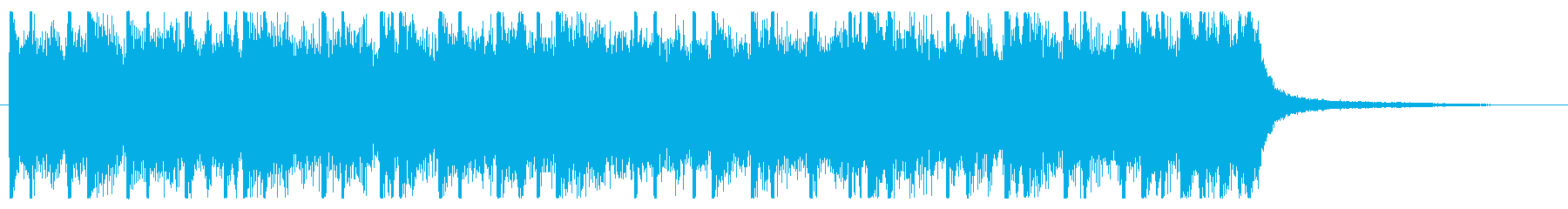 ロック調のパワフルなジングルの再生済みの波形