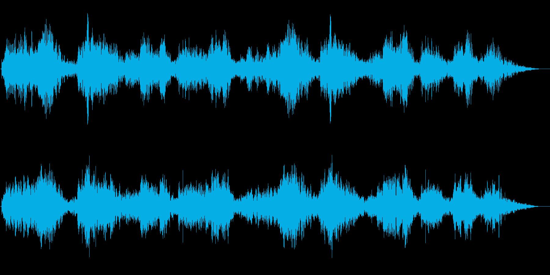 尺八による神秘的で禅を彷彿とさせる音風景の再生済みの波形