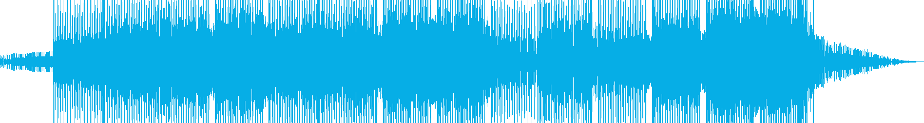 科学・浮遊感漂うテクノ 表拍リズム B+の再生済みの波形
