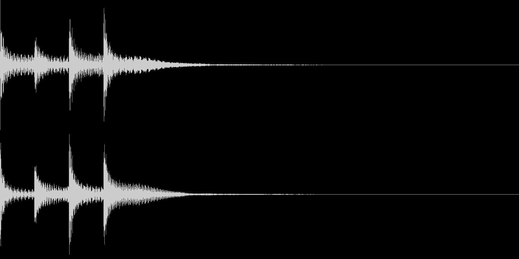 チャラララ(ピコピコ/テクノ/イベントの未再生の波形