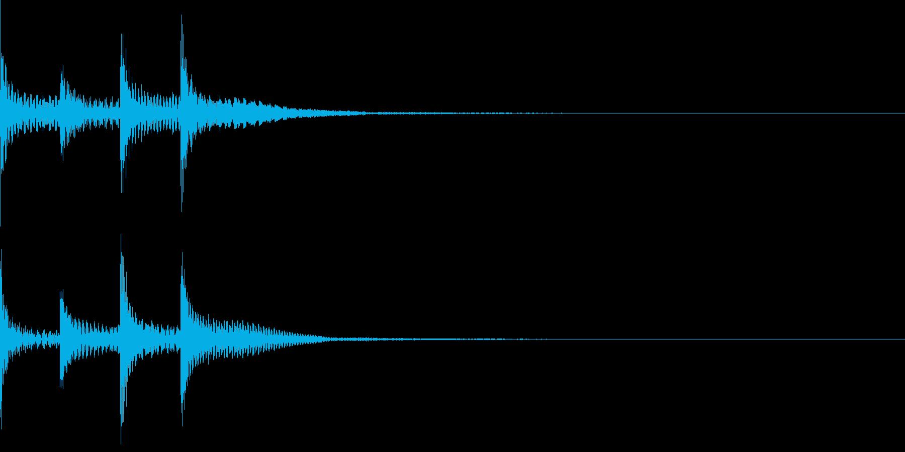 チャラララ(ピコピコ/テクノ/イベントの再生済みの波形