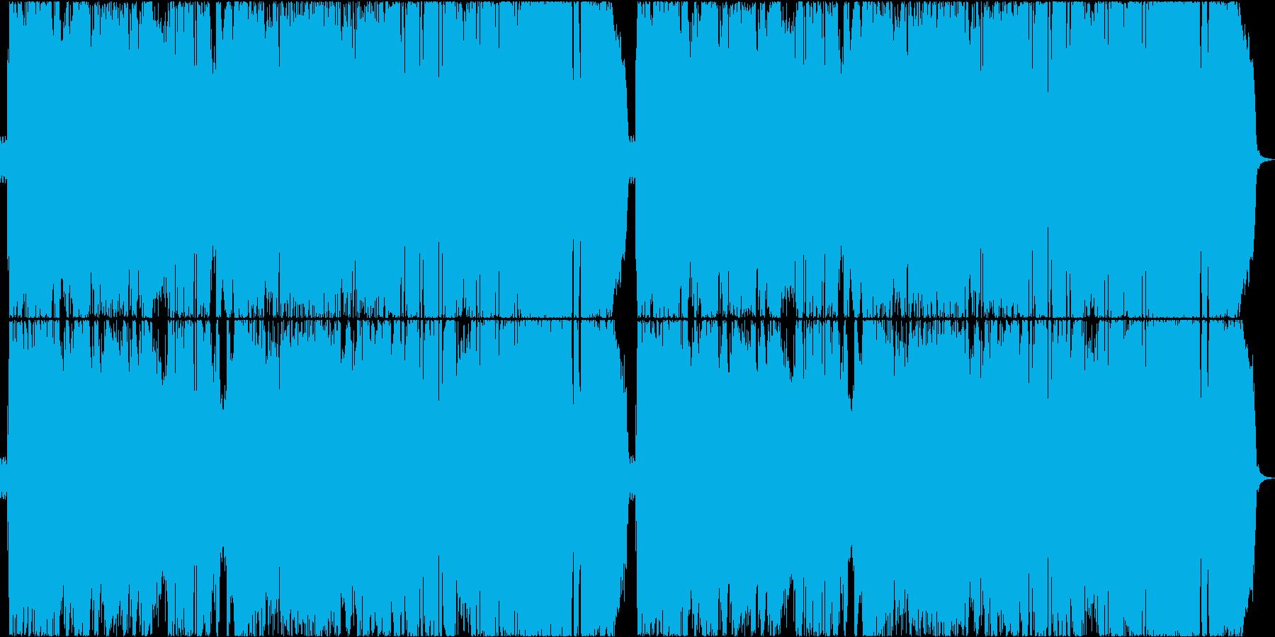激しいシンフォニックメタルの再生済みの波形