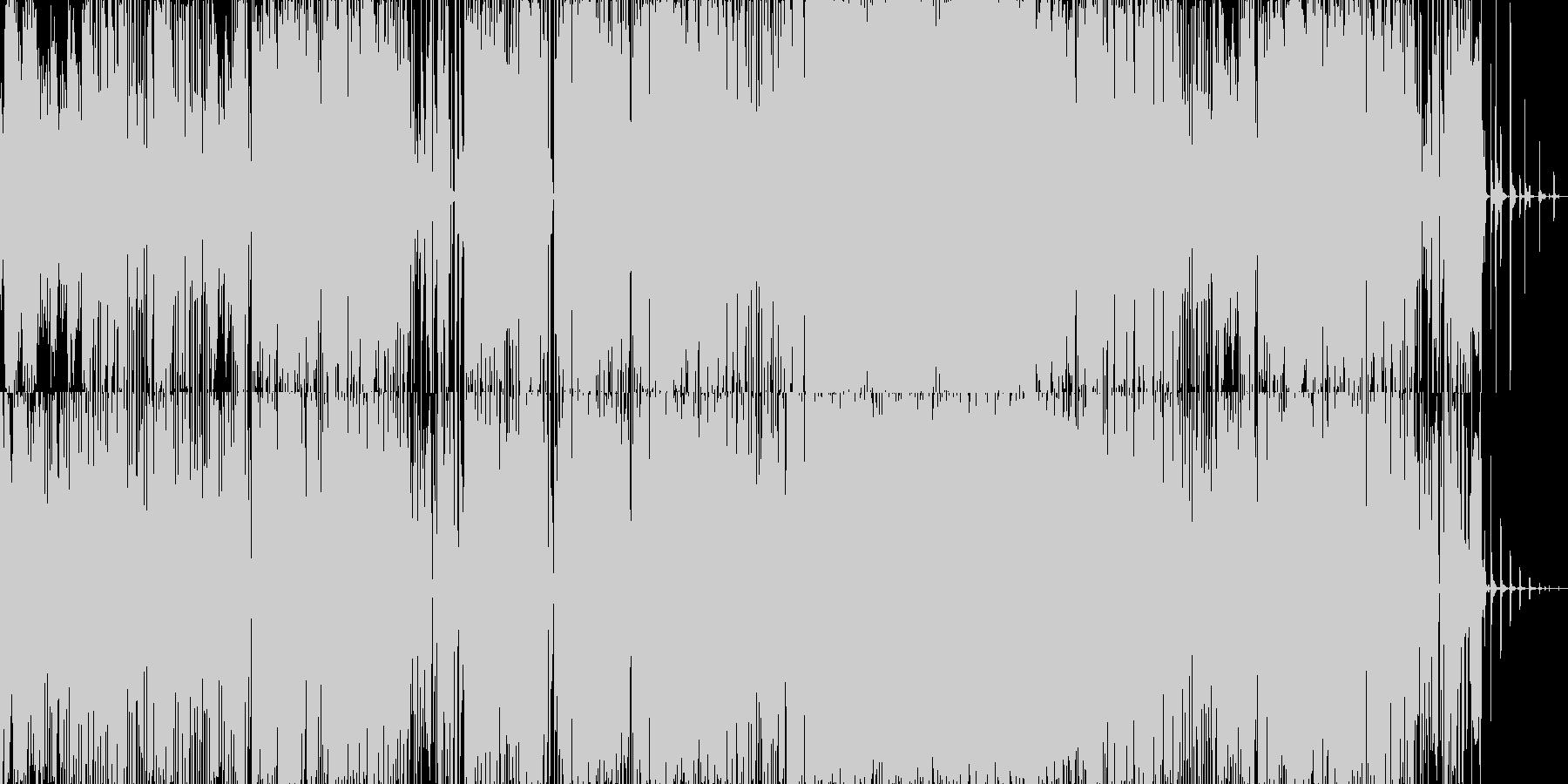 エレクトロ 技術的な お洒落 ad...の未再生の波形