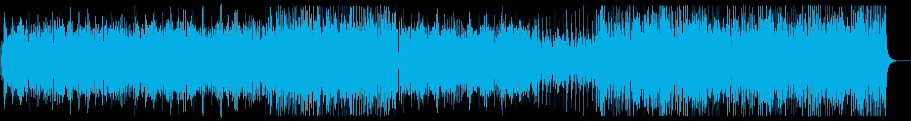 緩やかでリズミカルなシンセサンバ風BGMの再生済みの波形