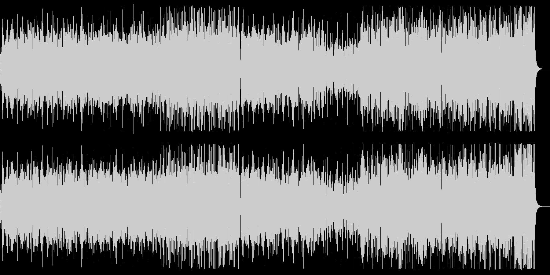 緩やかでリズミカルなシンセサンバ風BGMの未再生の波形
