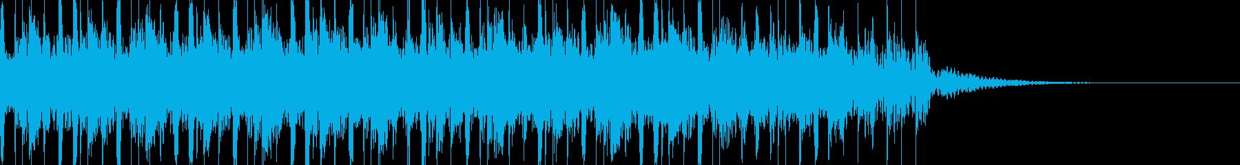 ジングル:優雅で広がりのある和風15秒の再生済みの波形