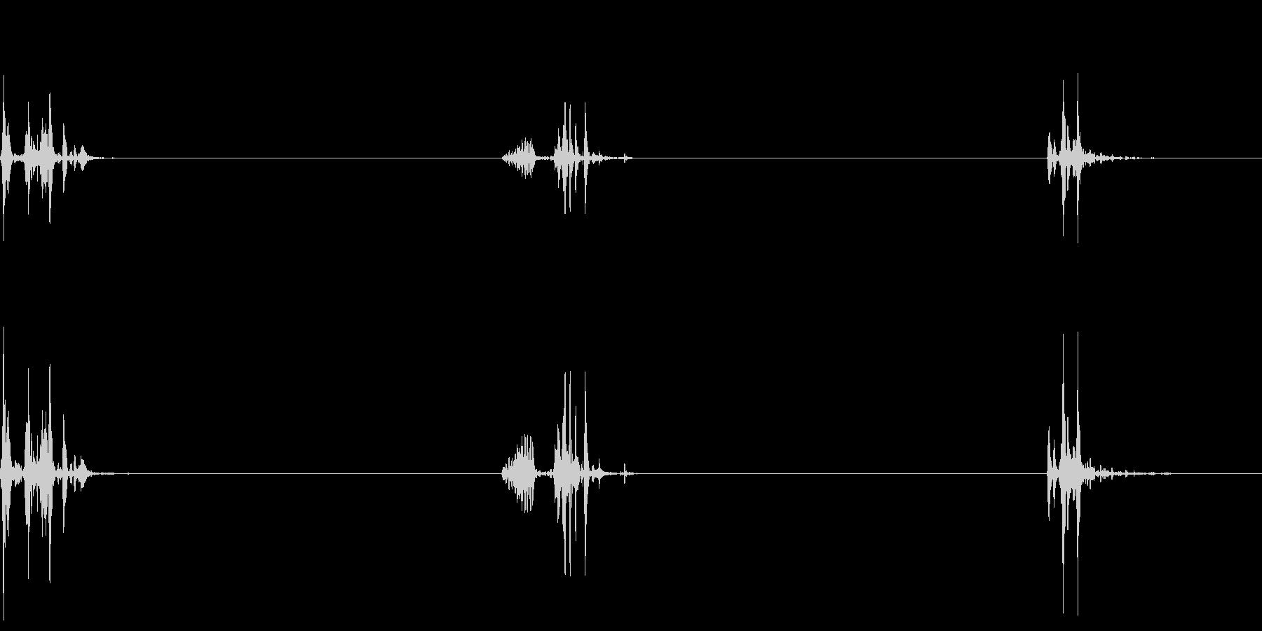 飲み込む音(ごっくん3回)の未再生の波形