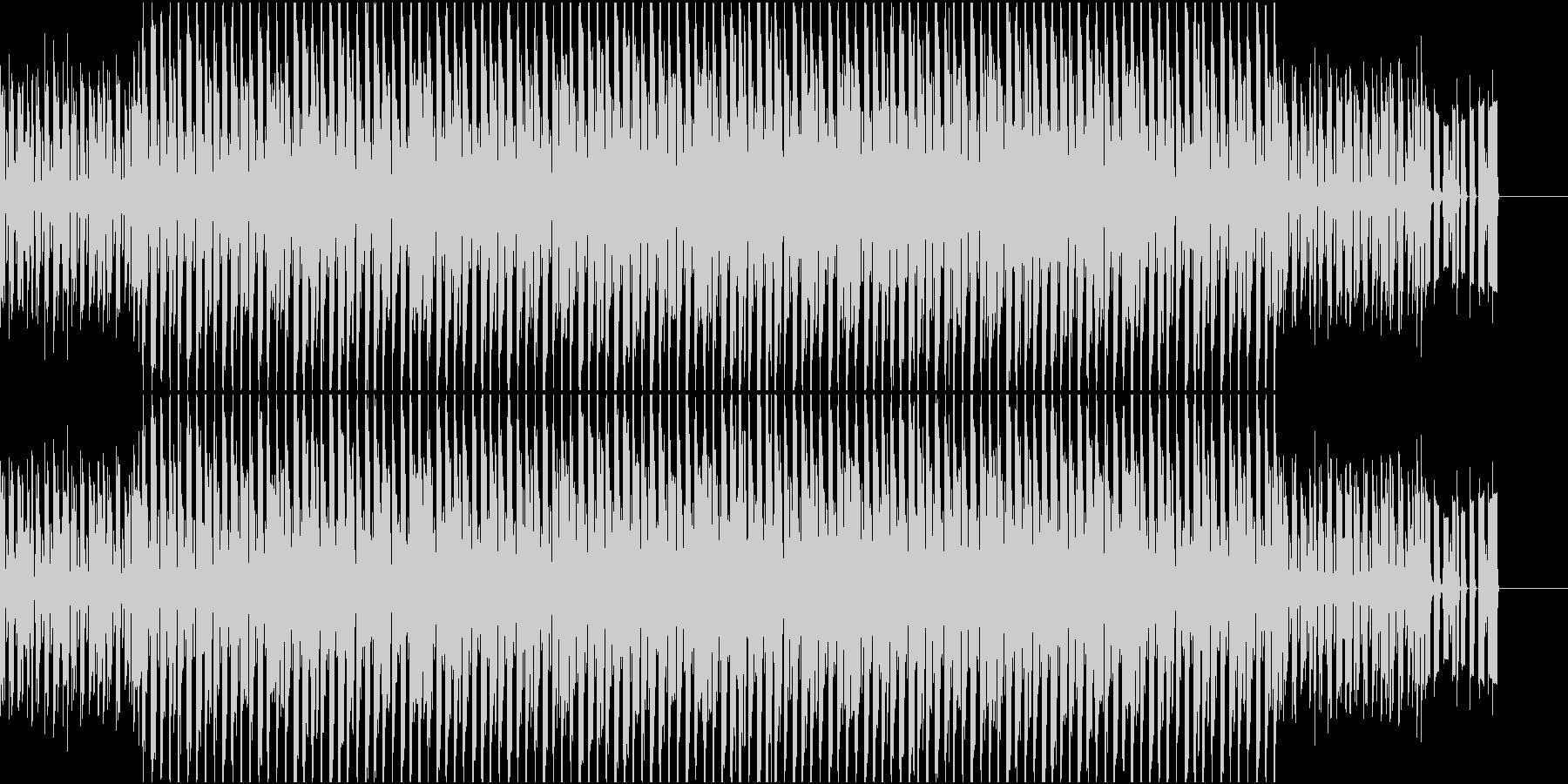 不安感煽るビートの未再生の波形
