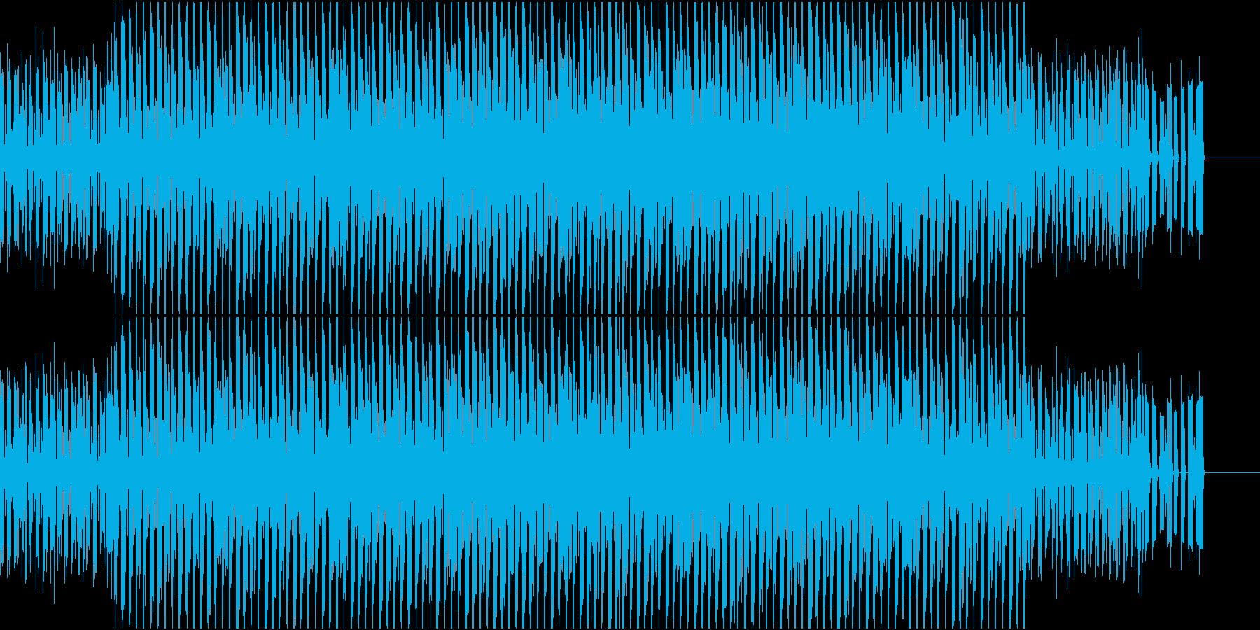 不安感煽るビートの再生済みの波形