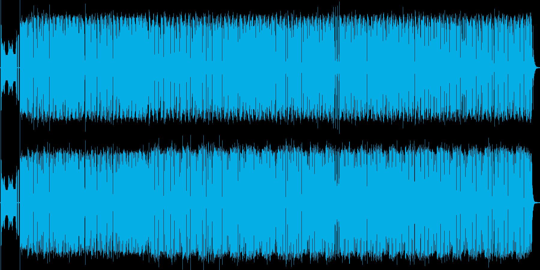 明るい雰囲気の冒険風楽曲の再生済みの波形
