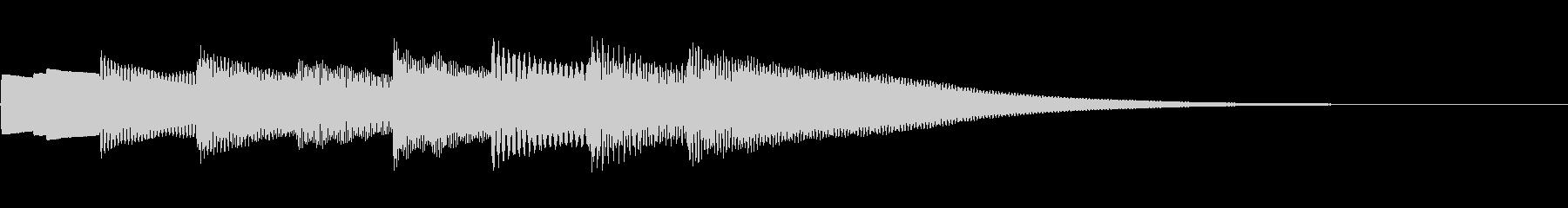 可愛いベルの音。きららラリラリ。下降系。の未再生の波形