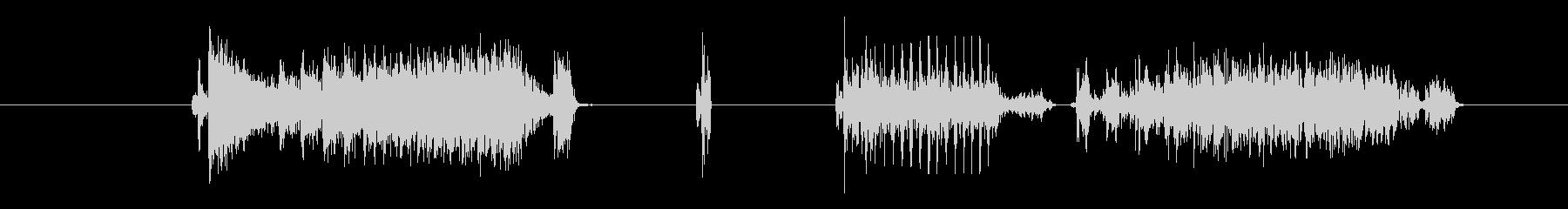 特撮 グリッチショート02の未再生の波形