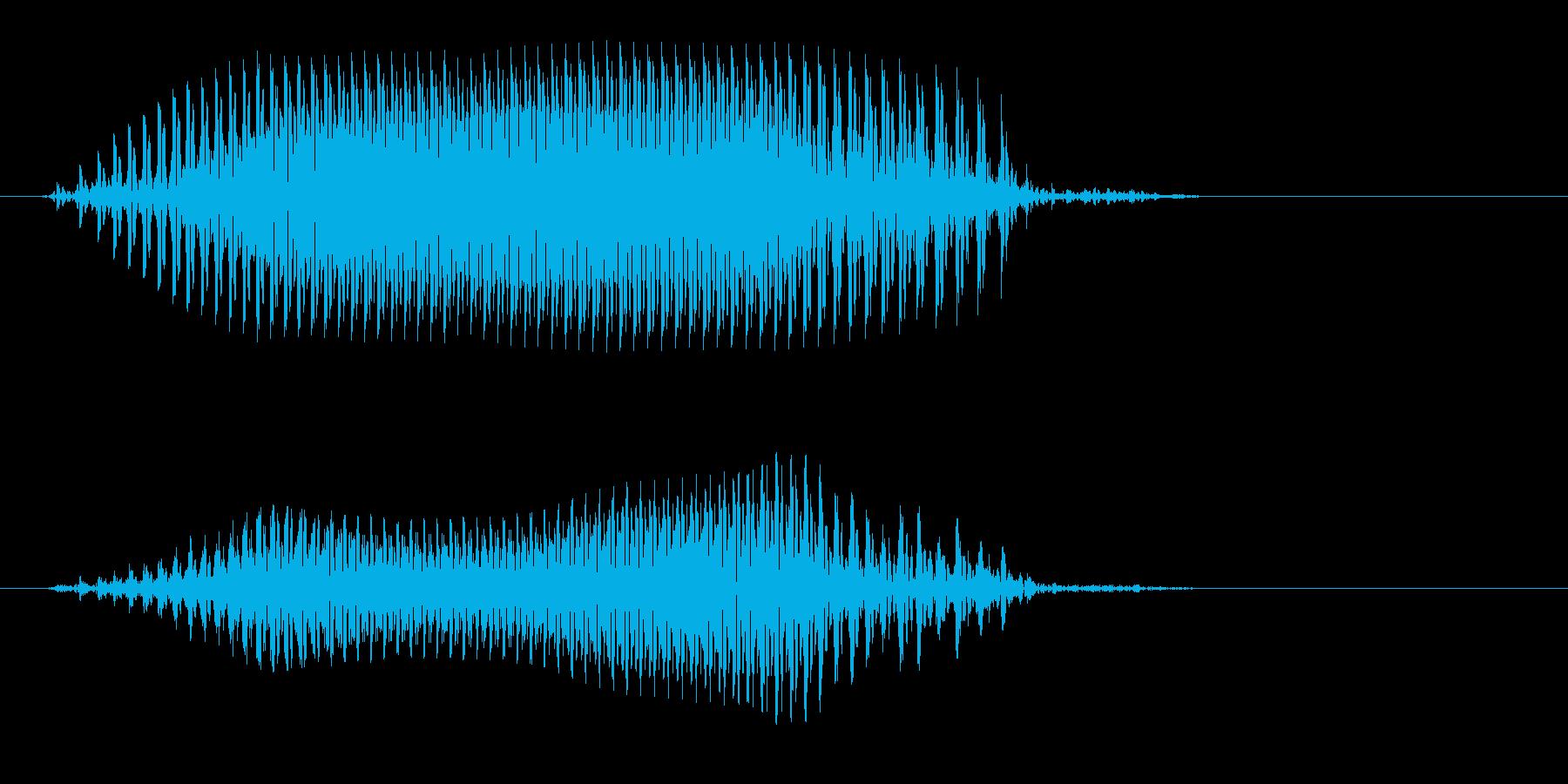 カァというカラスの鳴き声の再生済みの波形