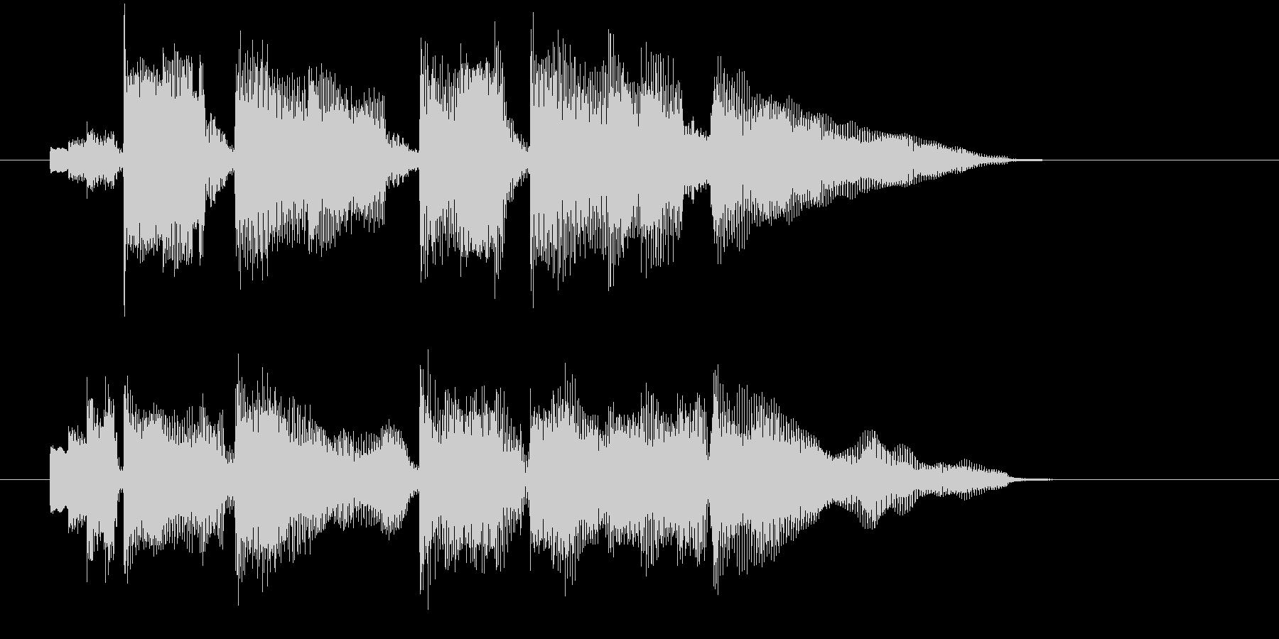 優しい音色のアコギとエレピのジングル曲の未再生の波形