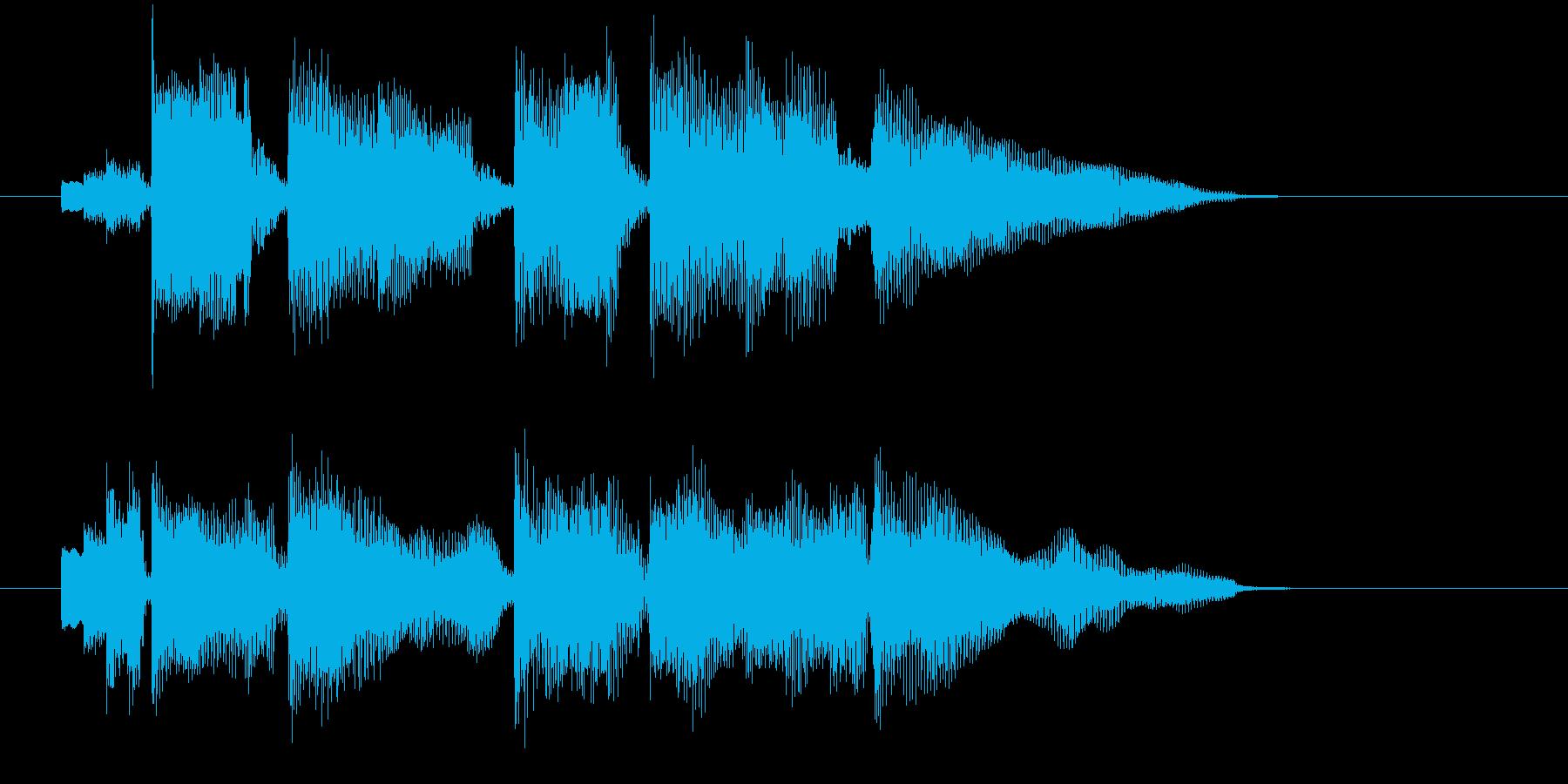 優しい音色のアコギとエレピのジングル曲の再生済みの波形