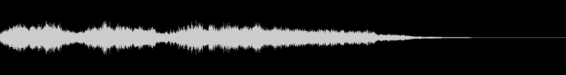 上昇音によるサウンドロゴの未再生の波形