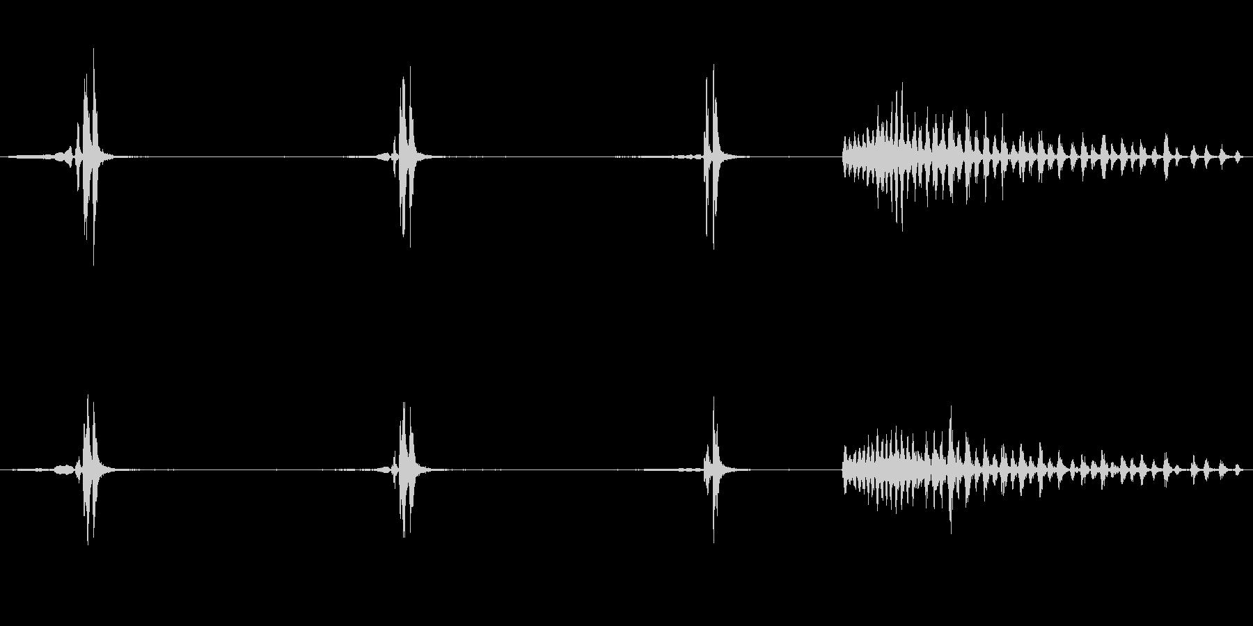 ウグイスのさえずり2の未再生の波形