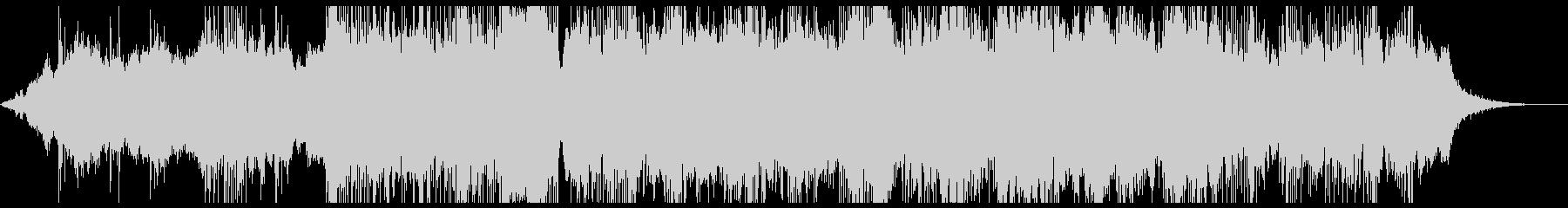 暗い雰囲気のアンビエントなBGMの未再生の波形