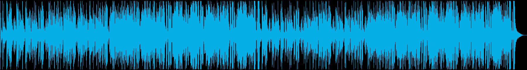 グルーヴィーなJAZZフュージョンBGMの再生済みの波形