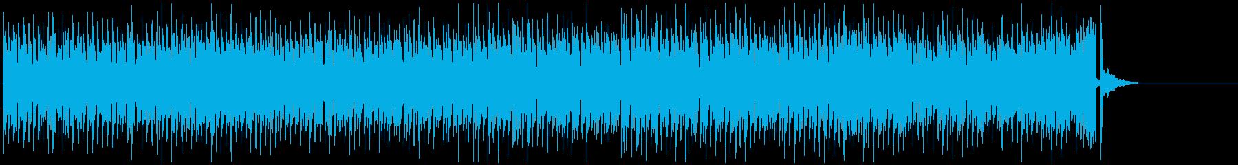 明るいエンディング用の可愛い曲の再生済みの波形