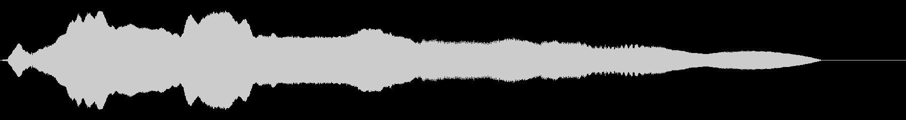 スライドホイッスル フニャフニャ 下降の未再生の波形