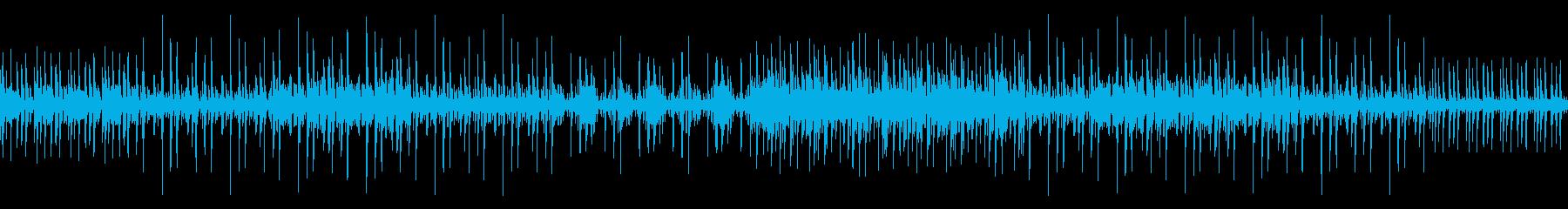 アフリカっぽい音楽の再生済みの波形