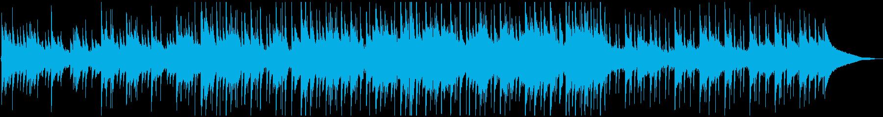 映像向け、ピアノメインの爽やかなポップスの再生済みの波形