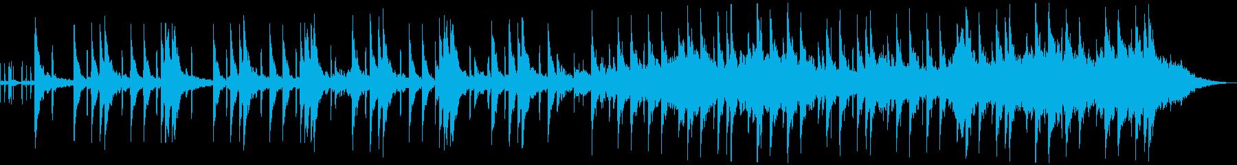 映画的なトラップビートの再生済みの波形