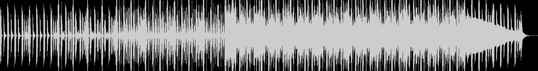 ノリの良いリズムミュージックなBGMの未再生の波形