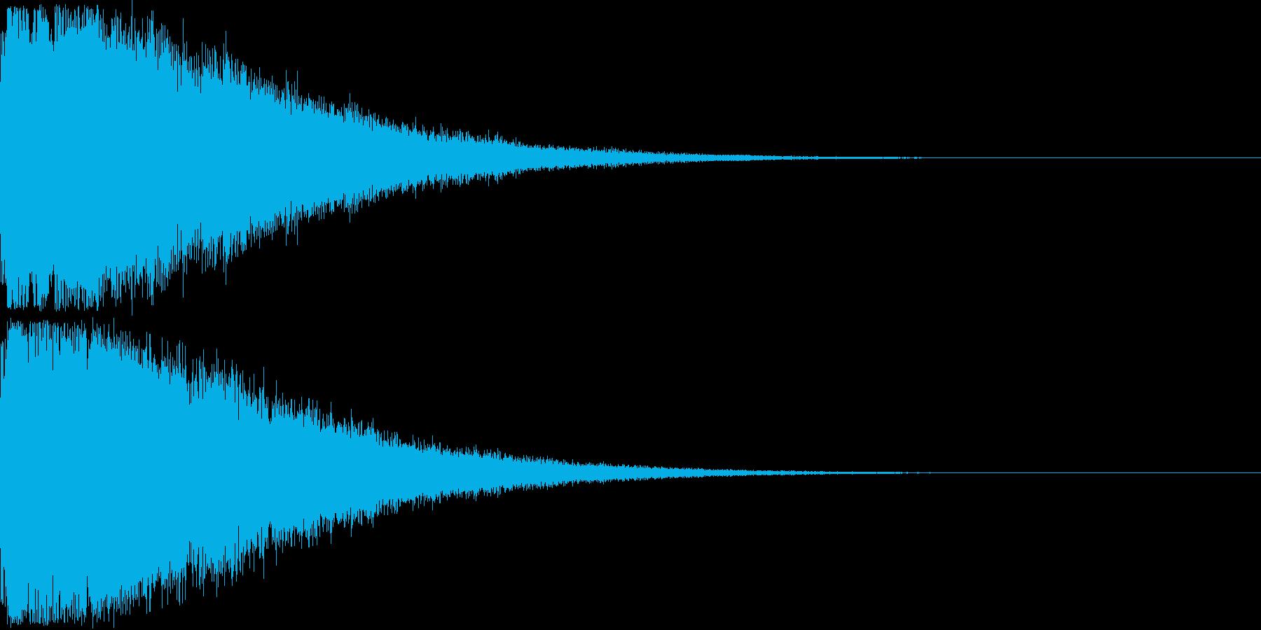 刀 剣 ソード カキーン キュイーン07の再生済みの波形