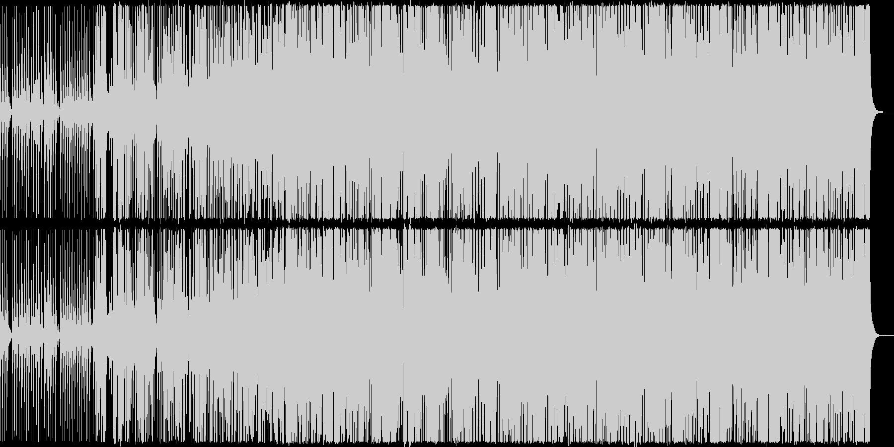 疾走感のある切ないEDMの未再生の波形