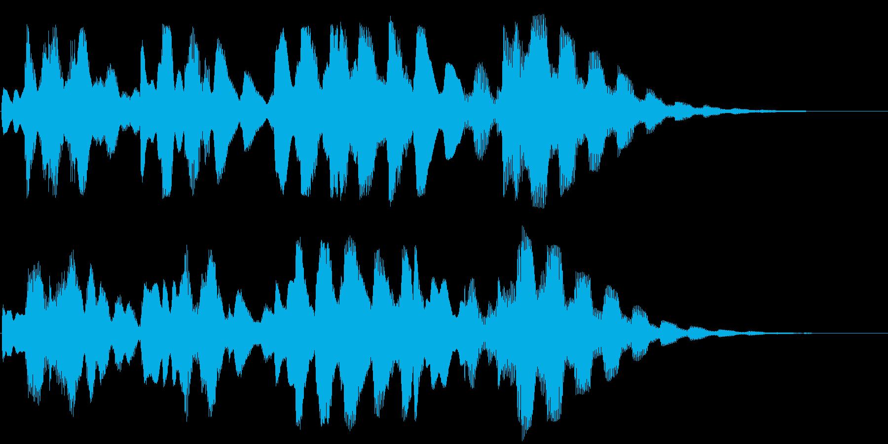 やさしい・やわらかいエレピのジングルの再生済みの波形