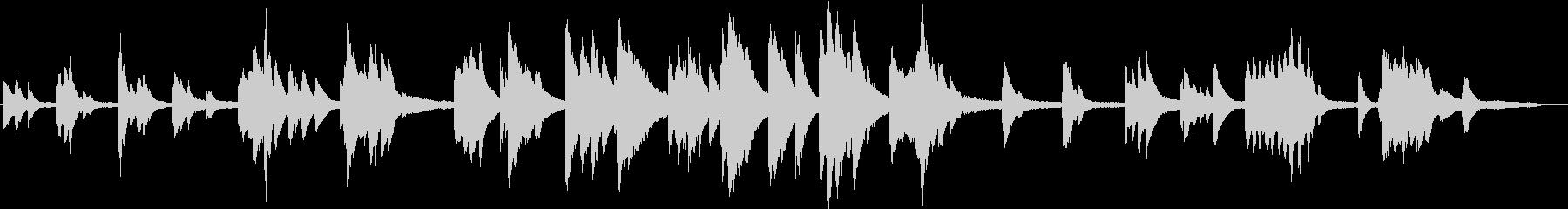 ゆったりとして、音数が少ないピアノの未再生の波形