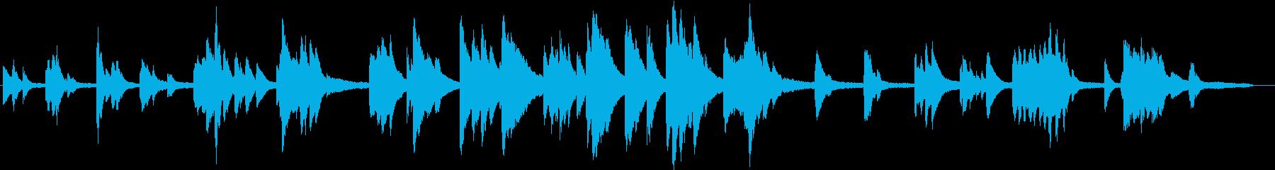 ゆったりとして、音数が少ないピアノの再生済みの波形