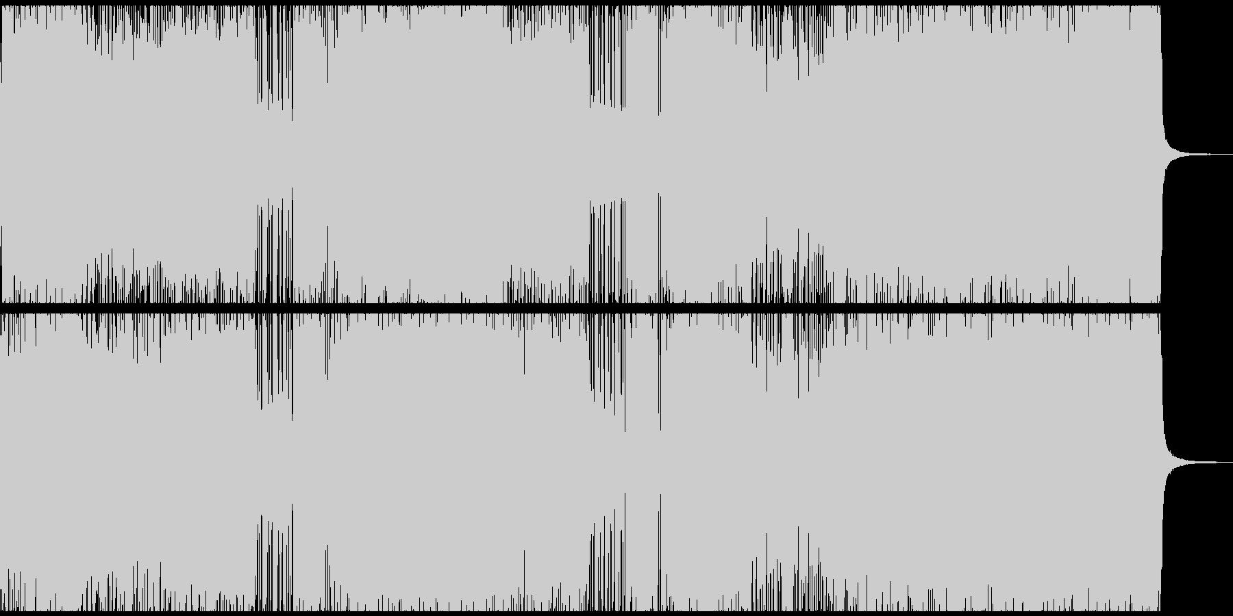 激しめのロック/エレキギター/バイオリンの未再生の波形