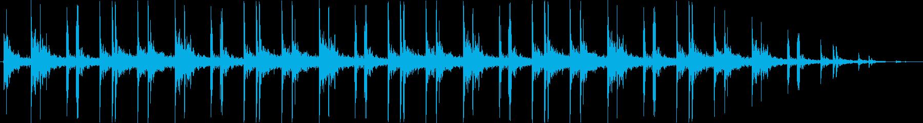 パッカパッカの再生済みの波形